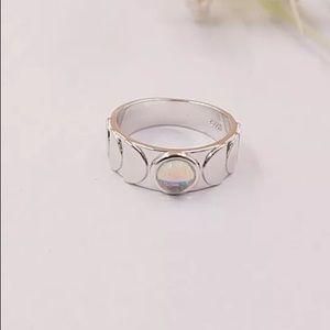 Sterling Silver Half Moon Ring